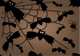 halloween bats and spider  background