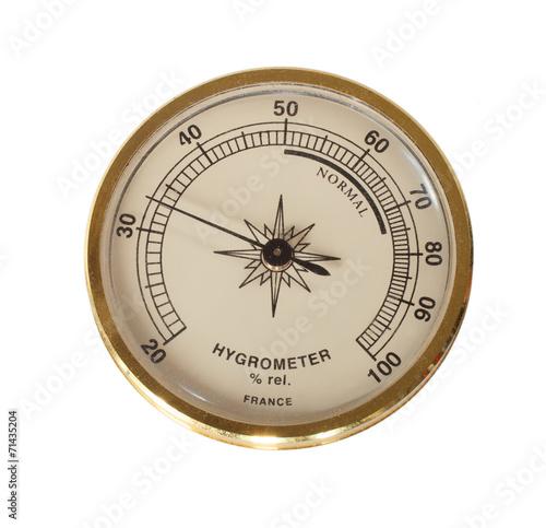 Leinwandbild Motiv Gold hygrometer