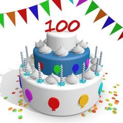 jubileum taart 100 jaar
