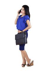 Female entrepreneur speaking on the phone