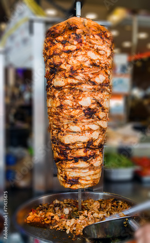 Keuken foto achterwand Turkey Turkish food Doner Kebab