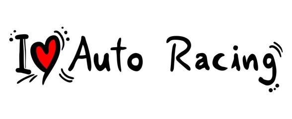 Auto racing love