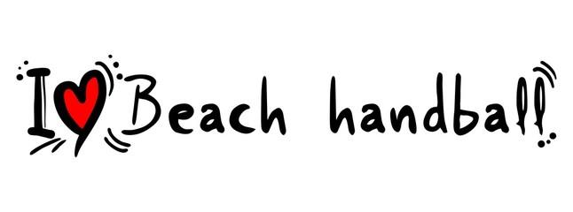 Beach handball love