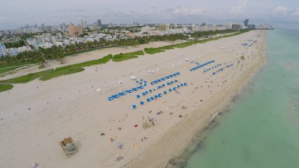 Aerial video of Miami Beach