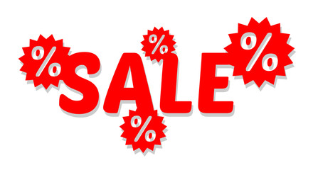 vector sale sign