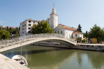 Pont et clocher de Crikvenica