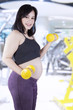 Healthy pregnant mother workout