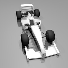 White racing car