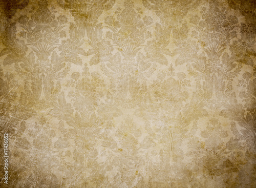 grunge vintage wallpaper pattern background - 71436852