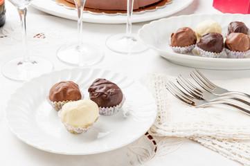 Cioccolatini boeri ai tre gusti di  cioccolato