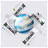 Road And Street Runway Travel And Journey World Map Business Inf