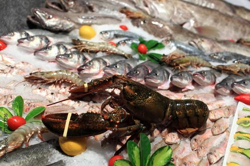 Keuken foto achterwand Boodschappen View of lobster