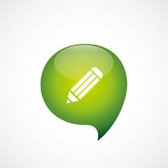 pencil icon green think bubble symbol logo.