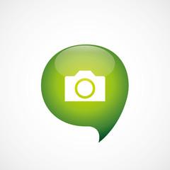 photo camera icon green think bubble symbol logo.