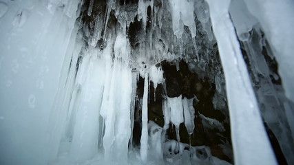 Motion Along an Ice Wall