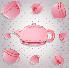 There are  nice pink cups