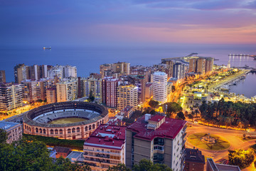 Malaga, Spain Cityscape on the Mediterranean