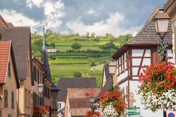 Maisons à colombages et vignobles, Rouffach, Alsace