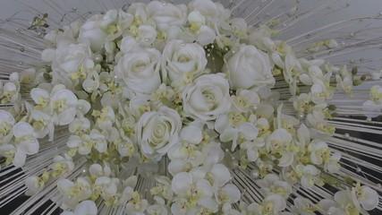 wedding white beautiful rose bouquet