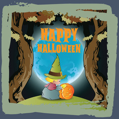 Vector background on a theme of Halloween