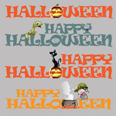 Vector template name of the Halloween