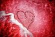 canvas print picture - Liebe... Herz