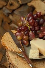 Trauben und Käse