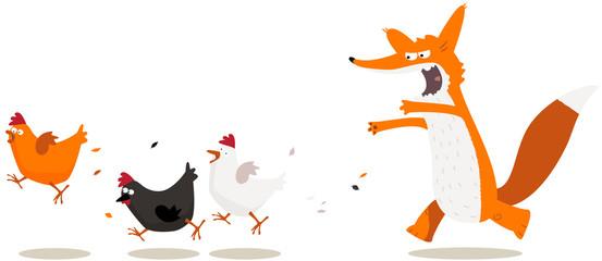chasse aux poules