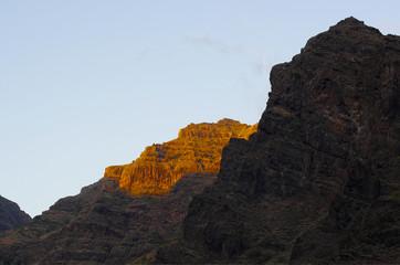 La Gomera island. The Valle Gran Rey, Canary, Spain