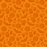Halloween vector seamless pattern poster
