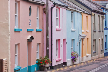 Traditional housing in an old Devon fishing village