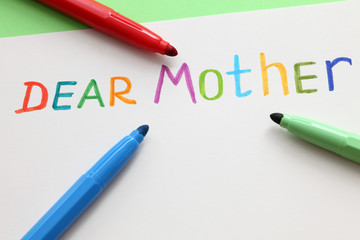 Letter to dear mother