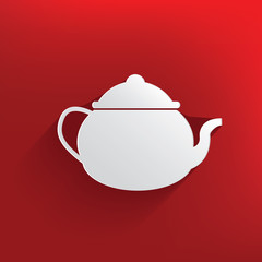 Tea cup design on red background,clean vector