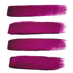 Violet ink vector brush strokes