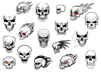 Horror, Halloween and danger skulls