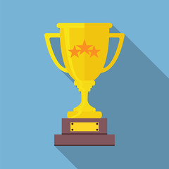 Champions Cup icon vector. Trophy cup flat vector icon