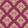 Purple and beige floral arabesque pattern