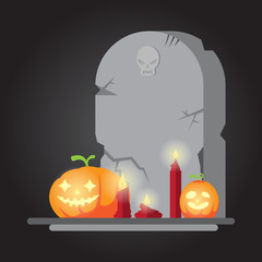 The spooky old tombstone Halloween