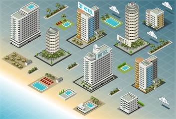 Isometric Seaside Buildings