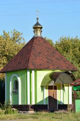 Rural wood church cross