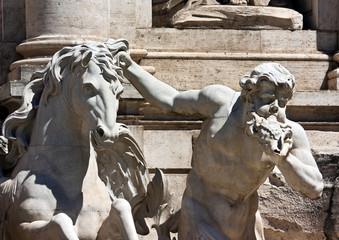 Roma, Fontana di Trevi, statue of Triton