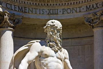 Roma, Fontana di Trevi, statue of Ocean