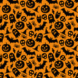 Halloween vector seamless pattern - 71444064