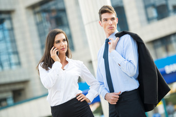 Young Business Couple
