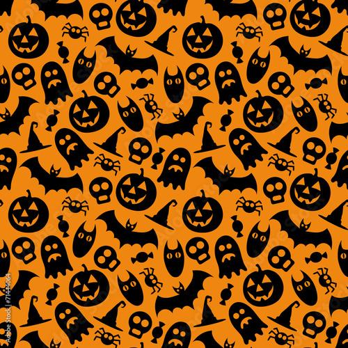 Halloween vector seamless pattern - 71444064