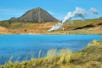 Geothermal landscape near Lake Myvatn