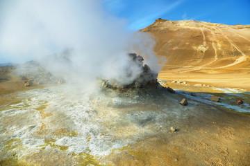 Landscape in the geothermal area Hverir
