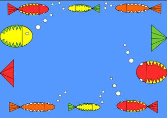 Fische im Rahmen