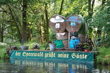 Stroh-Figuren im Spreewald