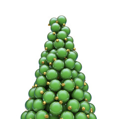 Christmas ornaments peak green